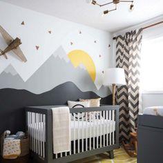 45 Amazing decorating ideas to create a stylish nursery! (Image Courtesy of Leclair Decor)