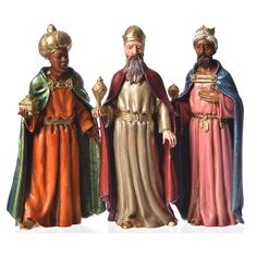 Reyes Magos para belén de 12 cm 3 figuras 4 Spanish Christmas, Vintage Christmas, Les Trois Rois Mages, We Three Kings, King Costume, Christmas Nativity Scene, Three Wise Men, New Year Celebration, Christmas Costumes