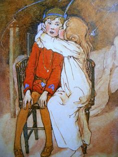 PETER PAN and WENDY Kiss Alice B Woodward by sandshoevintagebooks, $5.00