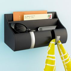 Espresso Cubby Wall-Mount Organizer by Umbra, love having this by the door as a catch-all!