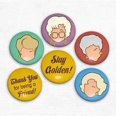 Golden Girls Faces Magnets Original Illustrations Set by hownice, $7.50