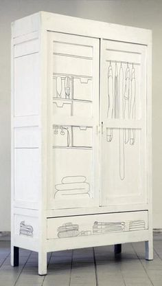 mommo design: 4 DIY  for a white wardrobe - draw on it with a black sharpie