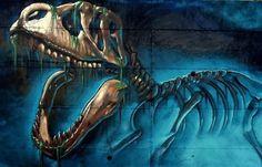 A really cool detail of a T-Rex by Spanish artist Sav45 (http://globalstreetart.com/s45).