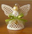 10561 Angel Battenberg lace Christmas ornament