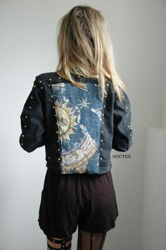 Celestial Sun Reworked Denim Jacket (Can$80.00) - Svpply