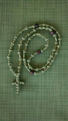 rosary beads with cross prayer rope 30 knots różaniec komboskini chotki black