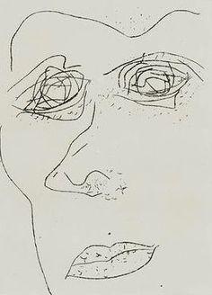 Sam Francis - Self portrait