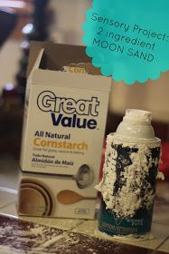our journey.: Senory Project: 2 ingredient moon sand!