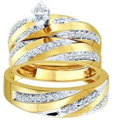 *Extra 10% off on our store plus No Shipping Charges! Period. 10kt Yellow Gold ... Check it out here! http://shirindiamond.net/products/10kt-yellow-gold-his-hers-marquise-diamond-solitaire-matching-bridal-wedding-ring-band-set-3-4-cttw?utm_campaign=social_autopilot&utm_source=pin&utm_medium=pin
