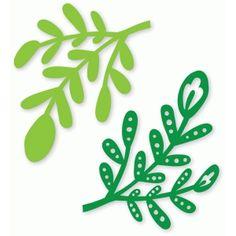 Silhouette Design Store: leafy stems duo