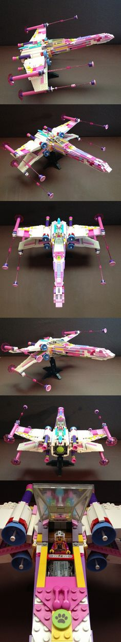 Pink X-Wing #LEGO #StarWars #X-Wing