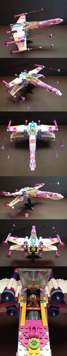 Pink X-Wing #LEGO #StarWars #X-Wing