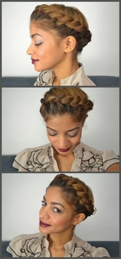 Halo Updo on Natural Hair | Curly Nikki | Natural Hair Care