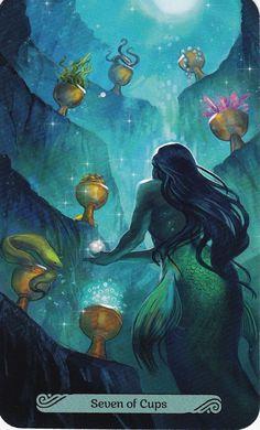 Mermaid Tarot, All Tarot Cards, Visionary Art, Elements Of Art, Oracle Cards, Book Of Shadows, Tarot Decks, Art Studios, Art Inspo