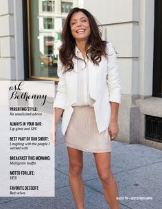Ask Bethenny Frankel - Skinnygirl Mag Fall Issue Corporate Chic, Bethenny Frankel, Summer Work Outfits, Ladies Of London, Skinny Girls, Work Fashion, London Fashion, Her Style, Casual Chic
