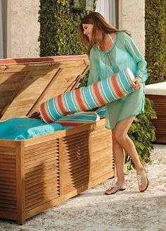 Outdoor Pool Storage.