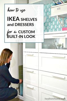 We turned a standard closet into a beautiful built-in cabinet and display case and it was life changing!   #builtins #ikeahack #ikea #cabinets #diy #tutorial via @heytherehome