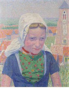 Portret van Zeeuws Meisje van Ferdinand Hart Nibbrig #Zeeland #Walcheren