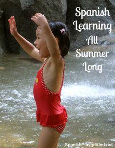 Fun and easy #Spanish summer activities for kids! Indoor and outdoor Spanish learning ideas. #summerSpanish #Spanish outdoor #kidsSpanish #Spanishgames http://spanishplayground.net/spanish-summer-activities/