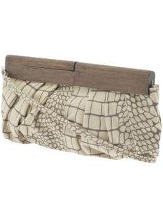 Wooden Handle Clutch