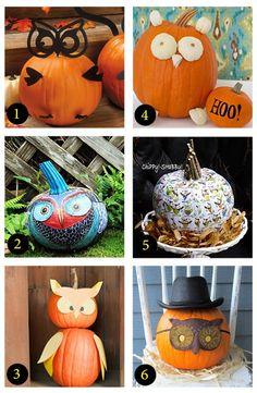 6 awesomely adorable owl pumpkins @Nery Williams Magazine @Phyllis Garcia magazine