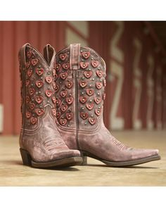 Eight Second Angel Women's Belle Heart Boot - Vintage Pink