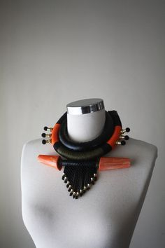 WARRIOR  African Inspired Necklace Tribal Necklace by elifus
