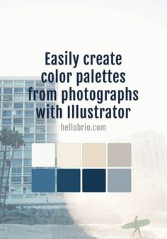 Easily create a color palette in Illustrator from a photograph