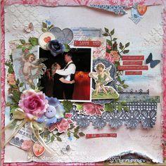 My Creative Scrapbook February Limited Edition Kit by Jodi Baune. Scrapbook Pages, Scrapbooking, Scrapbook Kit, Scrapbook Layouts, Key To My Heart, Wedding Scrapbook, Dancing In The Rain, Sketch Design, Wedding Couples