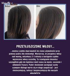 Odśwież przetłuszczone włosy bez ich mycia - Zobaczcie jak!!! Healthy Women, Healthy Tips, Diy Beauty, Beauty Hacks, Mini Vacation, Healthy Lifestyle Changes, Good Advice, Diy Hairstyles, Your Hair