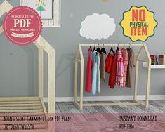 Toddler Floor Bed, Toddler House Bed, Toddler Girl, Kids Clothing Rack, Diy Clothes Rack, Girl Clothing, Dress Up Area, Kids Dress Up, Diy Wooden Floor