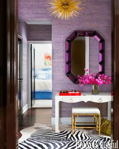 House Beautiful May 2014 Lilly Bunn Interiors Our Romano mirror, Jacqui console and Collette stool