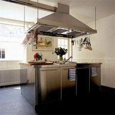 Edelstahl-Küchenschrank-modernes-Design