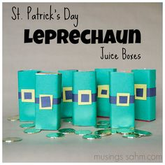 St. Patrick's Day Leprechaun Juice Boxes craft for kids