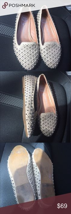 Jeffrey Campbell Martini studded Loafers/Flats 6 Preloved! In good condition- little wear on back of one shoe. 🚫No Trades! Open to reasonable offers through the offer button!! Jeffrey Campbell Shoes Flats & Loafers