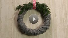 Watch Three-Step Scarf Wreath for Christmas in the  Video. Would use white scarf.