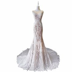 ZYLLGF Bridal Mermaid Boat Neck Dubai Wedding Gowns Court Train High Quality Vestido De Novia Sirena Real With Beadings MD23 ** AliExpress Affiliate's buyable pin. Click the image for detailed description on www.aliexpress.com #HighNeck Lace Wedding Gowns