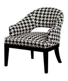 Black Houndstooth Chair | zulily