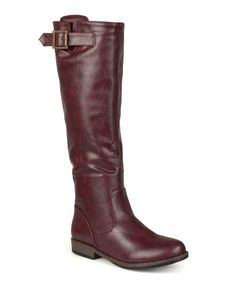 Look what I found on #zulily! Oxblood Amia Wide-Calf Riding Boot #zulilyfinds