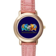 Custom Baby Elephant Watches Pink Leather Alloy High-grade Watch WXW-4403 $13.99 (save $14.01)