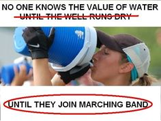 Advice for surviving marching band camp Funny Band Memes, Band Jokes, Silly Jokes, Marching Band Quotes, Marching Band Problems, Flute Problems, Music Jokes, Music Humor, Choir Humor