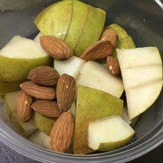 manzana con almendras
