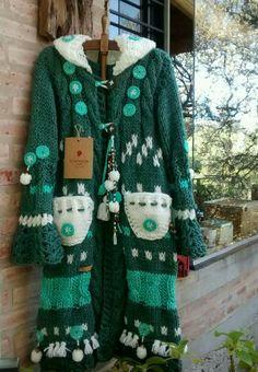 Crochet Coat, Crochet Jacket, Crochet Shawl, Crochet Clothes, Knit Cardigan, Cardigan Pattern, Knit Fashion, Barbie, Knitting Patterns
