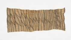 Mbuti Drawing Mbuti People,  Ituri Forest, DR Congo 20th century natural pygment on bark cloth 17 x 39 inches 40.5 x 89 cm