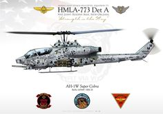 """UNITED SATATES MARINE CORPS MARINE LIGHT ATTACK HELICOPTER SQUADRON 773 (HMLA-773 Det A) """"Red Dogs / Nomads""""NMAG-49, AS Joint Reserve Base, New Orleans"""