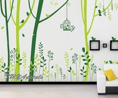 wall decal Vinyl Wall Decal Nature Design Tree Wall by TUYAdecals, $99.00