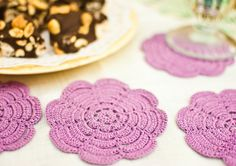 Crochet Coasters  French Country Decor by BobbiLewin on Etsy, $45.00
