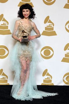 Because it was amazing: http://www.vogue.com.au/fashion/news/all+about+kimbras+grammy+dress,22098