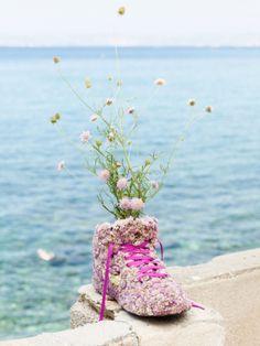 Diesem Schuh könnte selbst Cinderella nicht wiederstehen! #tollwasblumenmachen #flower #shoe