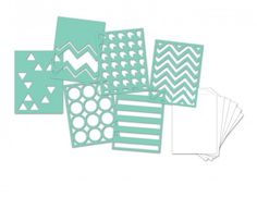"Heidi Swapp 3""x4"" Mini Stencil Kit - Patterns"